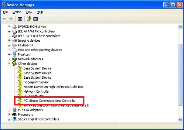 Скачать драйвер для PCI-контроллер Simple Communications Windows 7 64 bit