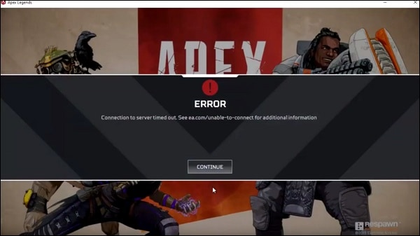 ea.com/unable-to-connect в Apex Legends