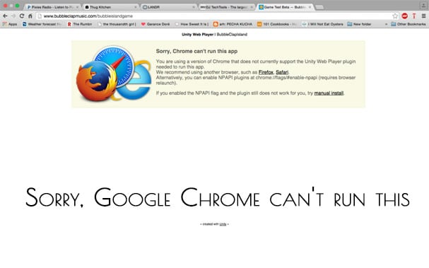 Sorry Google Chrome can't run this app как исправить