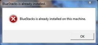 BlueStacks is already installed on this machine что делать